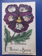 17 CHATELAILLON : RECEVEZ Un BAISER , C.P.A.,carte En Bon état - Châtelaillon-Plage