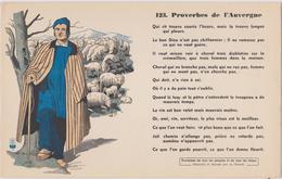 BUVARD EPAIS PEU COURANT PROVERBES DE L'AUVERGNE 123 - Blotters