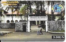CARTE-PREPAYEE-3000Fc-SNPT Mobile/COMORES-Université Des Comores-UTILISE-BE-R° Pt Rayures-RARE - Comore