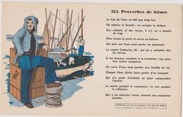BUVARD EPAIS PEU COURANT PROVERBES DE GENES 124 - Blotters