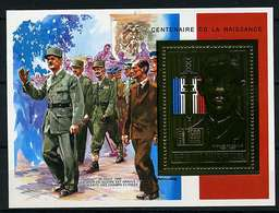 Rep. Centrafricaine ** Bloc N° 104D Or - Général De Gaulle - Central African Republic