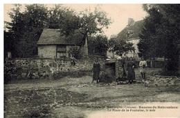 Saint Yrieix La Montagne: Hameau Du Maizouniaux, Place De La Fontaine Le Soir, Belle Animation - France