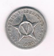 5 CENTAVOS 1920  CUBA /113/ - Cuba