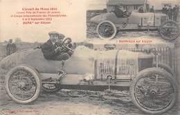 Thème: Sport Automobile Circuit Du Mans 1912   Duray Sur Alcyon    (voir Scan) - Sport Automobile