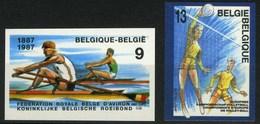 [A2546] België 2259/60 - Sport - Roeien - Aviron - Volley-ball - ON - Cote: 30,00€ - Ongetande