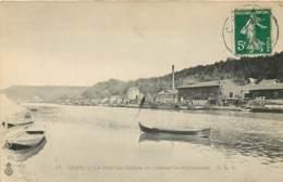 60 - CREIL - Le Port Des Guepes Et L'atelier De Réparations En 1908 - Creil