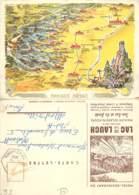 68 - CARTE LETTRE De L'HOTEL RESTAURANT DU LAC DE LA LAUCH En 1960 - France