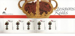 Portugal 1991 Portuguese Crown Jewels - Ourivesaria Portuguesa - Tesouros Reais 1 G Booklet - Caderneta 80 MNH - Fine Arts