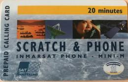 TAAF - Inmarsat - Prepaid Calling Card - Scratch § Phone - TAAF - Terres Australes Antarctiques Françaises