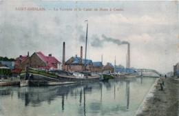 Belgique - Saint-Ghislain - La Verrerie Et Le Canal De Mons à Condé - Saint-Ghislain