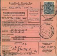 1955, Postanweisung Nach Schweden Mit 80 Pfg. Bauten EF Ab BERLIN-CHARLOTTENBURG 4 - [5] Berlin