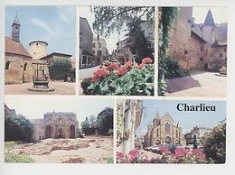 Charlieu : Multivues Chapelle & Hotel Prieur Rue De Gaulle Nartex église Philibert - Charlieu
