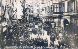 Luxembourg - Carte-Photo - Guerre 14-18 - Entrance Of The American Troops At Luxembourg - Luxemburg - Stad