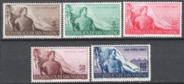 San Marino 1948 Sass.336/40 **/MNH VF/F - Unused Stamps
