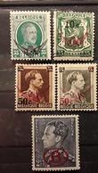 BELGIQUE 1929 - 1942 SERVICE , 5 Timbres ,tous Neufs ** MNH,  TB - Officials