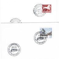 2 Briefe Mit Sonderstempeln Aus Norrköping (Schweden) - Eisenbahn, Dampflok, Järnväg, Spoorweg, Railway - Briefe U. Dokumente
