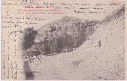 An - Rare Cpa Russie - Sibérie - Les Travaux Sur La Ligne à 1105 V. De Tschelabinsk (précurseur) - Russia