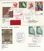 Flugpost / Sammlung Mit Rd. 75 Int. Belegen (meist Erstflugbriefe) (4058-320) - Sammlungen (ohne Album)