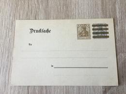 K8 Deutsches Reich Ganzsache Stationery Entier Postal DRP 3 Mit Zudruck Von Stuttgart-Cannstatt - Allemagne