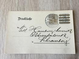 K8 Deutsches Reich Ganzsache Stationery Entier Postal DRP 3 Mit Zudruck Von Stuttgart Von Freudenstadt - Allemagne