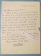 L.A.S André DUMAS Poète & Dramaturge à Henry BIDOU - Françoise ROSAY - Av. De Saint Mandé - Lettre Autographe - Autographes