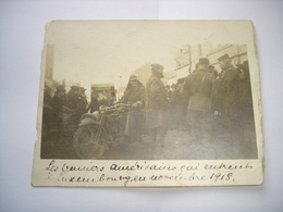 TOP (4) ! CPA PHOTO - LUXEMBOURG VILLE ( GRAND DUCHE ) - LES 1ERS AMERICAINS A LUXEMBOURG NOV. 1918 - WW1 SOLDAT A MOTO - Luxembourg - Ville