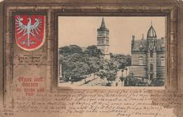 Gruss Aus Gnesen (Gniezno) - Ev. Kirche Und Post - Poland