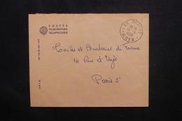 ALGÉRIE - Enveloppe En Franchise Postal  Des PTT De Alger En 1956 Pour Paris - L 49838 - Algeria (1924-1962)