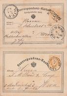 Oesterreich / 1874 / 2 Postkarten O (4063) - Ganzsachen