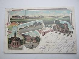 DÖMITZ ,Seltene Karte Um 1899 Mit Marke + Stempel - Dömitz