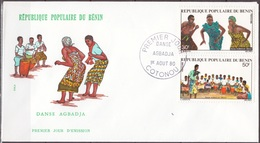 Benin 1980 Agbadja Dancers FDC [Scott 479 - 480] - Benin - Dahomey (1960-...)