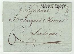 Suisse // Schweiz // Switzerland //  Préphilatélie // Lettre De Martigny Pour Lausanne 21.03.1820 - ...-1845 Vorphilatelie
