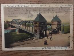 CPA, DUISBURG - RUHRBRUCKE, éd Gebr.Moonen, écrite En 1923 Par Soldat Du 168 E RI-militaria-Allemagne - Duisburg