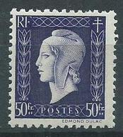 Timbre Type Marianne De Dulac Yvt 701 Neuf** - 1944-45 Maríanne De Dulac