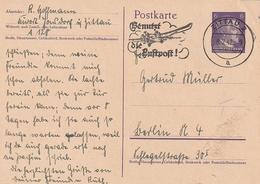 """Deutsches Reich / 1942 / Masch.-Stempel Zittau """"Benutzt Die Luftpost"""" Auf Postkarte (4071) - Deutschland"""