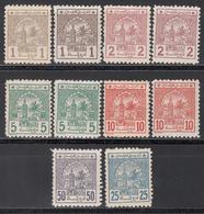 Postes Cherifiennes, 1913 Yvert Nº 9 / 14, 9A, 10A, 11A, 12A, MH - Maroc (1891-1956)