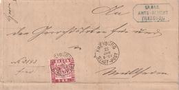Baden / 1868 / Mi. 24 EF Auf Brief K1 FREIBURG STADT-POST (4073) - Baden