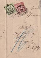 Baden / 1868 / Mi. 23 Und 24 Zusammen Auf Brief (Zahlungsbefehl) K2 LOERRACH (4074) - Baden