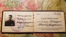 Soviet  Document - AEROFLOT  ID Certificate Of Aviation Company In Ukraine, KHARKOV  - 1950s - Documents Historiques