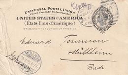 USA / 1905 / Postkarte Nach Deutschland, Rs. Firmenzudruck (4076) - Interi Postali