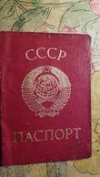 USSR. Ukraine, Soviet Ukrainian Passport  ID Card   - 1980s  Edition - Ukraine (Zhdanov Region) - Documents Historiques