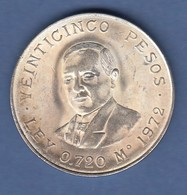 Mexiko Silbermünze 1972 25 Pesos Benito Pablo Juárez García 22,5g Ag 720 - Mexique