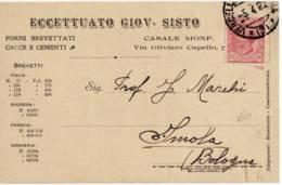 4082 ALESSANDRIA CASALE MONFERRATO SISTO - 1900-44 Vittorio Emanuele III