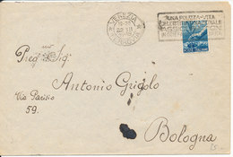 Italy Cover Sent To Bologna Venezia 22-12-1948 Single Franked - 6. 1946-.. Repubblica