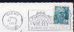 Frankreich  1952;  Flamme D.03  Vichy, La Reine Des Villes D'Eaux - Bäderwesen