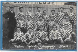 38 . VOIRON -  CARTE PHOTO EQUIPE RUGBY VOIRONNAISE 1913-1914 - Voiron