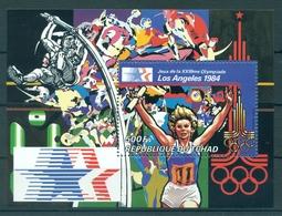 CHAD *1982 * S/Sheet * MNH** Olympic Games, Los Angeles - Mi.No BL107 - Tchad (1960-...)