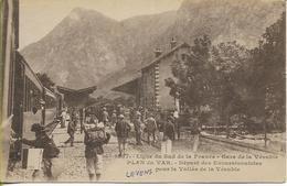 PLAN DU VAR  Gare De La VESUBIE Départ Des Excursionnistes Pour La Vallée De La VESUBIE Ligne Du SUD-FRANCE - Francia