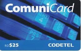 TARJETA DE REPUBLICA DOMINICANA DE COMUNICARD DE CODETEL $25 (con Marcas) - Dominicana