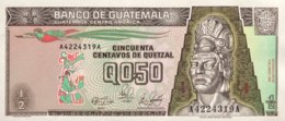 Guatemala 0.50 Quetzal, P-65 (4.1.1989) - UNC - Guatemala